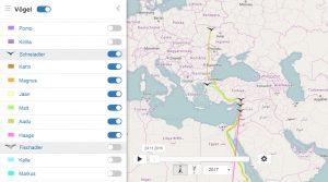 GPS-Telemetrie, Greifvögel, Senderdaten